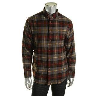 G.H. Bass & Co. Mens Cotton Flannel Button-Down Shirt - M
