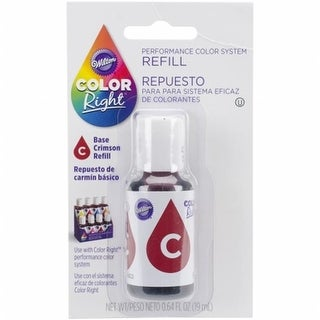Wilton 153918 Color Right Food Color System Refill - Red, 0.7 oz.