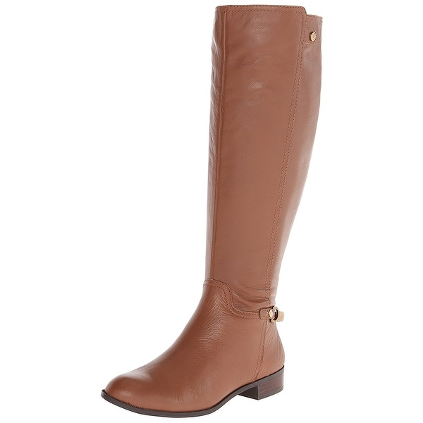 AK Anne Klein Women's Kacey Wide Calf Leather Riding Boot