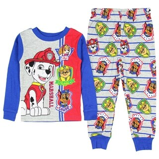 Nickelodeon Paw Patrol Little Boys Toddler Long Sleeve Pajama Set TV Characters