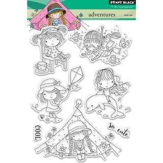"""Penny Black Clear Stamps 5""""X7""""-Adventures"""