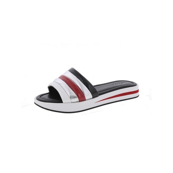 fed11fd7cda1 MICHAEL Michael Kors Womens Conrad Slide Slide Sandals Colorblock Metallic