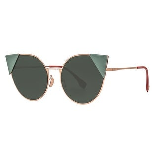 Fendi Lei FF 0190/S DDB07 Copper Gold Green Round Cat Eye Sunglasses - gold copper - 57mm-19mm-140mm