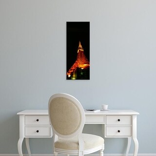 Easy Art Prints Panoramic Image 'Tower lit up at night, Tokyo Tower, Minato Ward, Tokyo Prefecture, Japan' Canvas Art