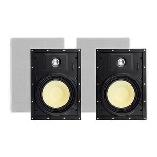 Monoprice In-Wall 2 Way Speakers - 8 Inch (pair) With Snap-Lock, Aramid Fiber And Titanium Silk Drivers - Caliber Slim Series