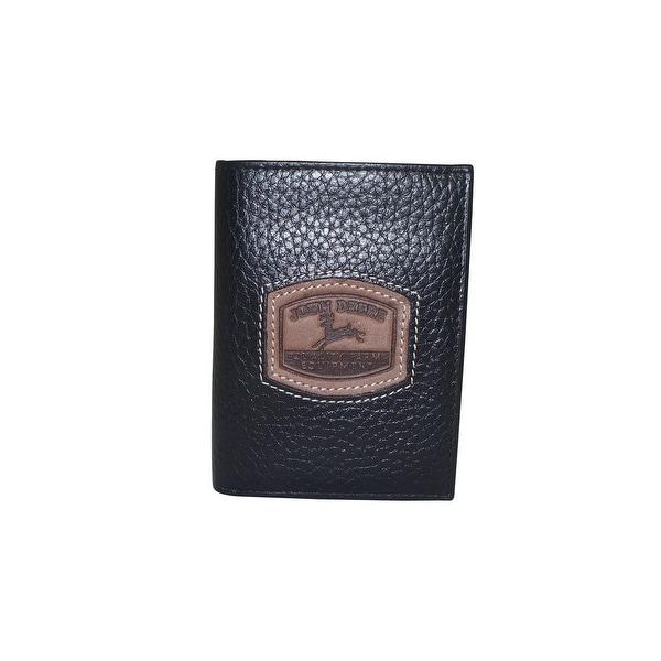 John Deere Western Wallet Mens Pebble Grain Leather Trifold - One size