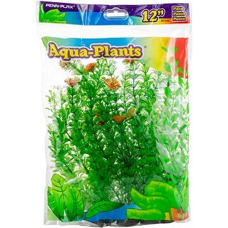 "Green With Red - Penn-Plax Aqua-Plants 12"" 6/Pkg"