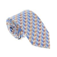 Missoni U4706 Blue/Orange Chevron 100% Silk Tie - 60-3