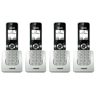 VTech UP407 DECT 6.0 Cordless Handset w/ 50 Station Phone Directory & 3-way Conferencing- 4 Pack