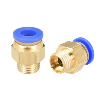 """9 Pcs 1/4"""" G Male Straight Thread 6mm Push In Joint Pneumatic Quick Fittings"""