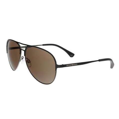 ffd3942adbac Emporio Armani EA2032 312773 Brown Aviator Sunglasses - 59-13-140