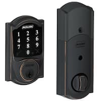 Schlage BE468-CAM Connect Camelot Touchscreen Deadbolt with Z-Wave Technology - N/A