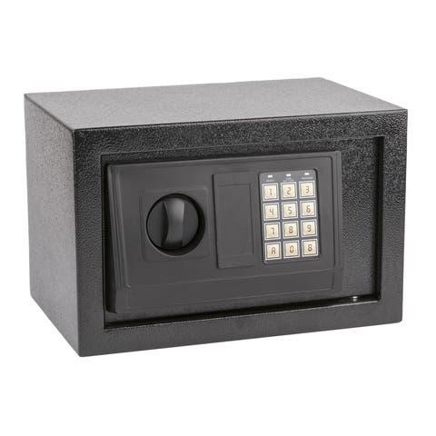Small Size Electronic Digital Steel Safe Box Black