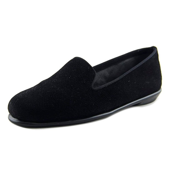 Aerosoles Betunia Women Round Toe Canvas Black Loafer