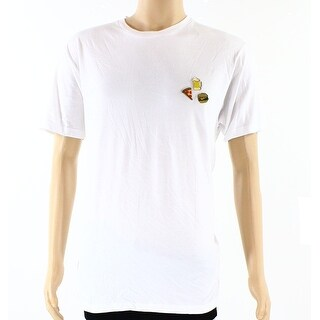 JEM NEW White Men Large L Holy Food Trinity Embellished Tee T-Shirt