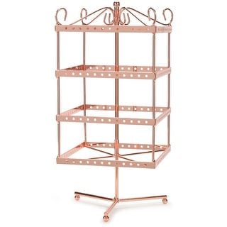"Metal Jewelry Display Spinner 6""X6""X13""-Copper"