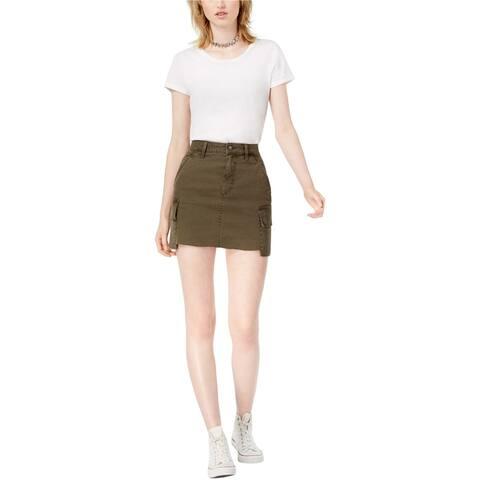 Joe's Womens Army Cargo Denim Skirt, Green, 24