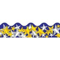 Border Gold & Silver Stars