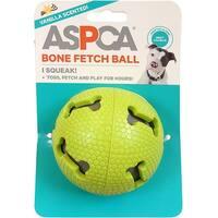 Green - Aspca Bone Fetch Ball Dog Toy