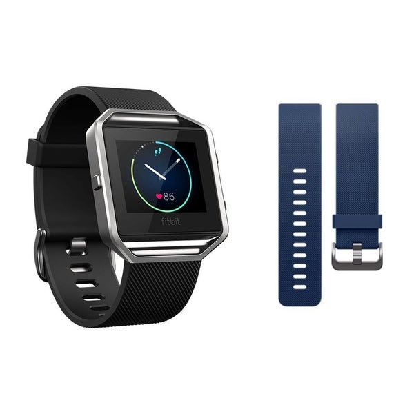 Shop Fitbit Blaze Smart Fitness Watch Bundle (Small) w/ extra Classic Small Blue Band - Certified Refurbished - Free Shipping Today - Overstock - 22353387