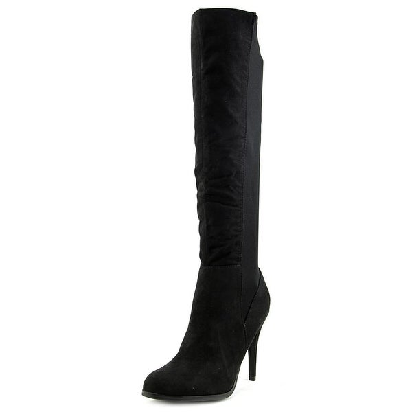 Diba Girl Extr Eme Women Round Toe Synthetic Black Knee High Boot