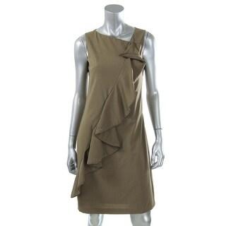 Catherine Malandrino Womens Zipper Trim Cascade Ruffle Party Dress - 4