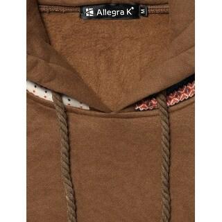 Allegra K Winter Elastic Cuff Long Sleeve Warm Hoodie for Lady