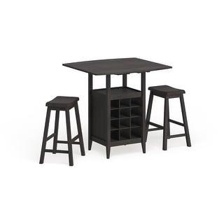 "Link to Safavieh Emeric 3-Piece Set Drop Leaf Pub Table - 36"" W x 36"" L x 36"" H - 36"" W x 36"" L x 36"" H Similar Items in Dining Room & Bar Furniture"