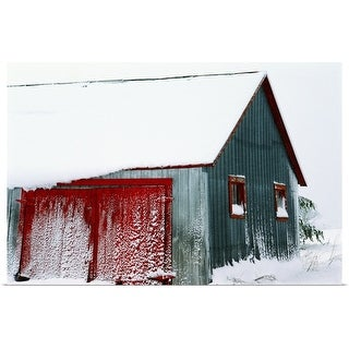 """""""Snow Covered Barn"""" Poster Print"""