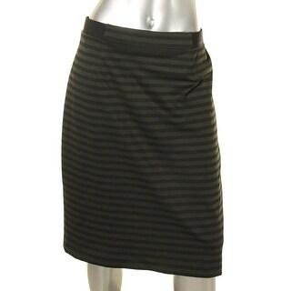 Nine West Womens Pencil Skirt Striped Slim