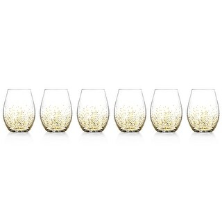 Fitz and Floyd Luster Stemless Glasses Set of6GlasswareGold