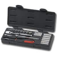 22 Piece 1/4 Inch Drive Metric 6 and 12 Point Socket Set