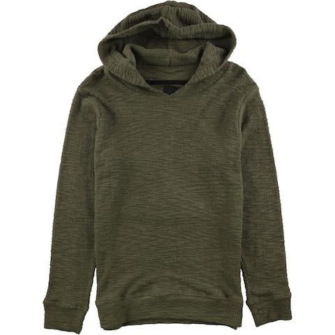 Twenty Mens Needle Out Hoodie Sweatshirt, Green, Small