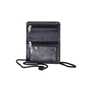 Scully Western ID Holder Soft Plonge Leather ID Window Black
