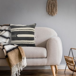 Link to Geometric and Tufted Stripe Throw Pillow  Similar Items in Decorative Accessories
