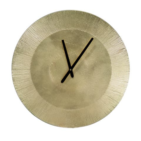 "Phelt Contemporary Round Wall Clock - 15"" x 15"""