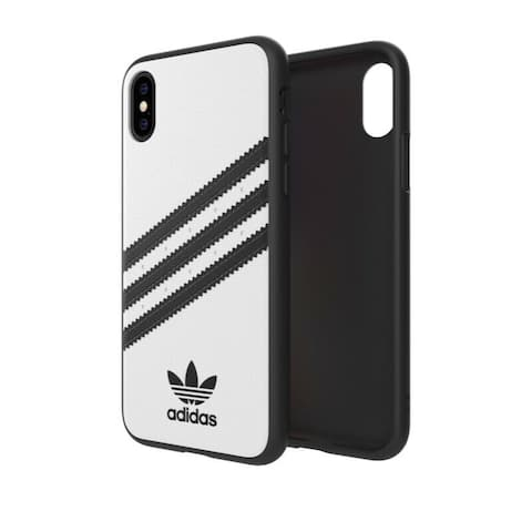 adidas 3-Stripes Snap Moulded Case for iPhone Xs Max, White/Black