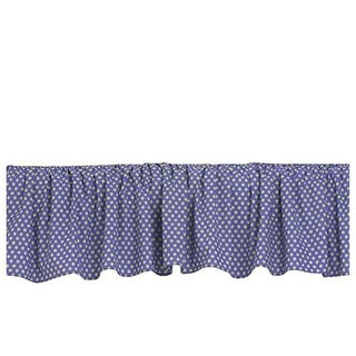 Cotton Tale PWDF Cotton Designs Full Bed Skirt, Periwinkle