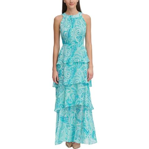 Tommy Hilfiger Womens Maxi Dress Halter Paisley