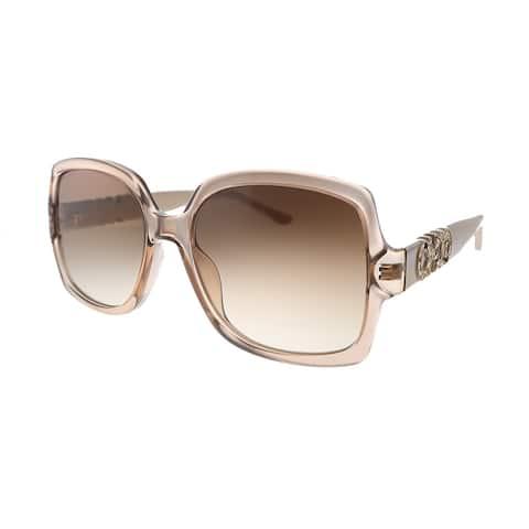 Jimmy Choo JC Sammi/G/S FWM Womens Nude Frame Brown Gradient Lens Sunglasses