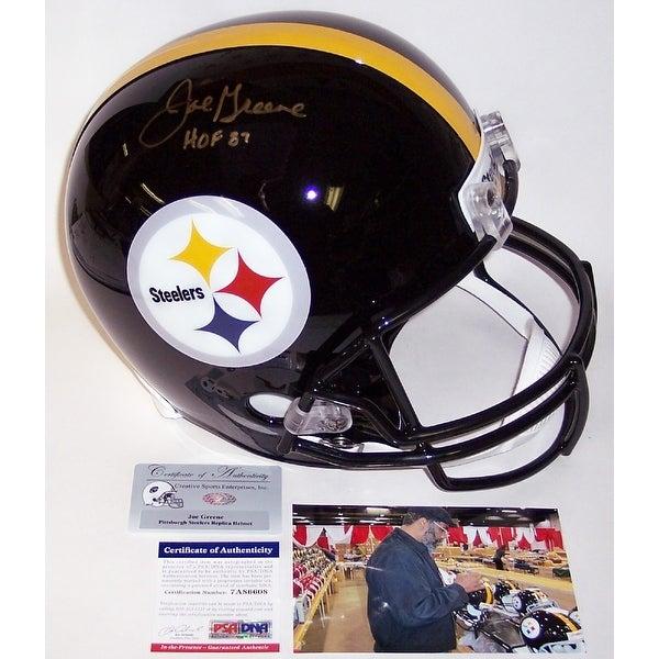 Joe Greene Autographed Hand Signed Pittsburgh Steelers Full Size Helmet PSADNA