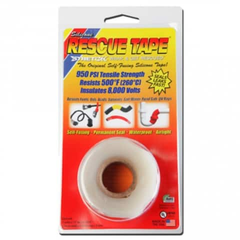 """Rescue Tape RT1000201204USC Self-Fusing Silicone Tape, 1""""x12', Clear, 0.30 Thick"""