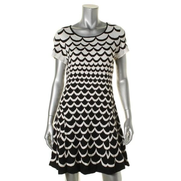 CeCe by Cynthia Steffe Womens Wear to Work Dress Metallic Knit