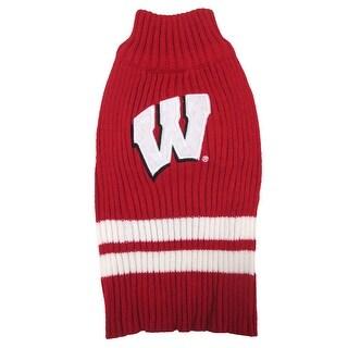 University of Wisconsin Knitted Turtleneck Pet Sweater