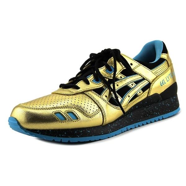 Asics Gel-Lyte III Women Round Toe Leather Gold Running Shoe