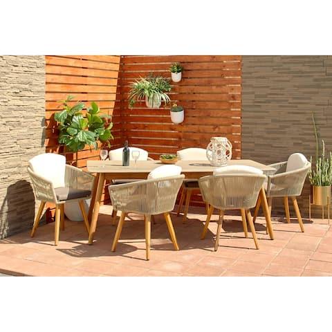 Light Brown Aluminum Modern Outdoor Dining Chair (Set of 2) - 25 x 24 x 30