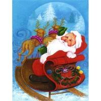 Carolines Treasures  Christmas Santa Claus Good Night Flag Garden Size
