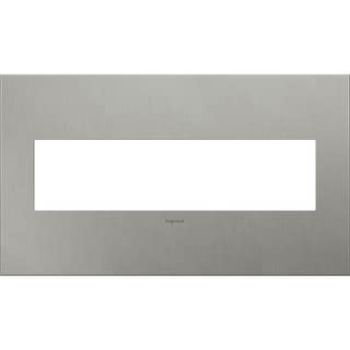 Legrand AWC4GBS4 adorne 4 Gang Metal Wall Plate - 6.56 Inches Wide