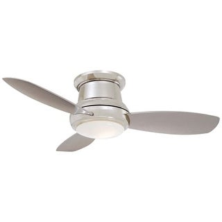 """MinkaAire Concept II 44 3 Blade 44"""" Concept II Flushmount Ceiling Fan - Integrated Light, Handheld Remote Control and Blades"""