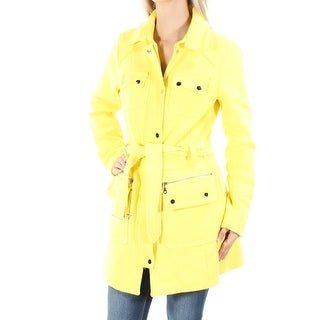 INC $170 Womens New 1352 Yellow Trench Casual Jacket XS B+B
